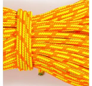 Bóje a příslušenství - lano Apneaman GALE 12mm reflexní žlutá/oranžová