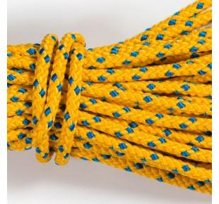 Bóje a příslušenství - lano Apneaman TRAINING 12mm žlutá/modrá