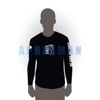 T-shirt Apneaman Athlete - long sleeve, black