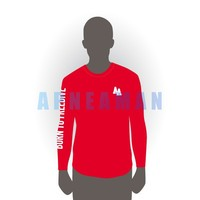 Freediver AA T-shirt - long sleeve, red