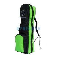 Apneaman backpack for extra long fins, with front pocket